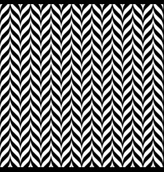 black and white vintage zig zag seamless pattern vector image