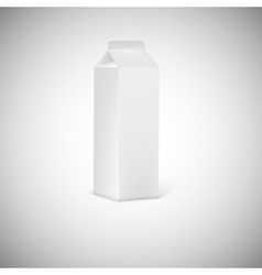 Blank grey juice or milk packaging vector