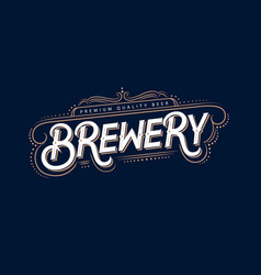 Brewery vintage logo label badge vector