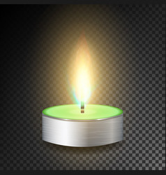 Burning 3d realistic dinner candles dark vector