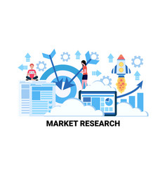 business people brainstorming market research vector image