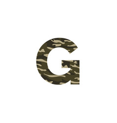 camouflage logo letter g vector image