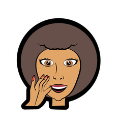 Cartoon woman expression image vector
