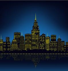 City lights cityscape vector