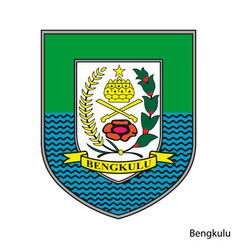 Coat arms bengkulu is a indonesian region vector