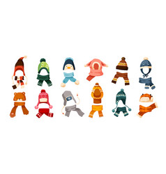 collection of children s winter knit hats and vector image