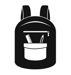 College backpack icon simple style vector