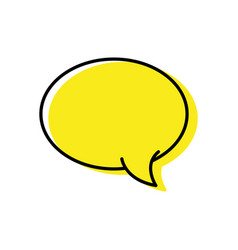 Color oval chat bubble art text message vector