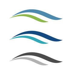color set swoosh wave logo template design eps 10 vector image
