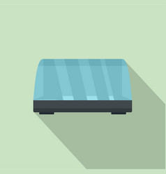 Commercial fridge icon flat style vector