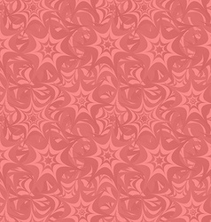 Coral seamless star pattern background vector