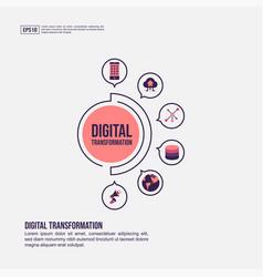 Digital transformation concept for presentation vector