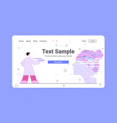 dna test infographic big genomic data with woman vector image