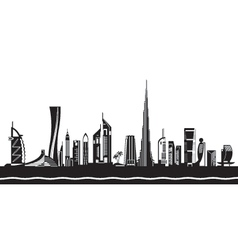 Dubai cityscape by day vector image