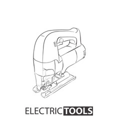 Electric jig saw on white background vector