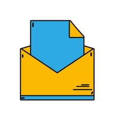 folder file document information archive vector image