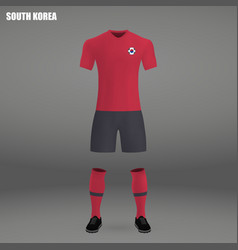 football kit of south korea 2018 vector image