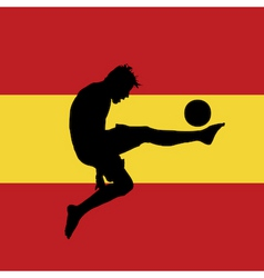 football player with Spanish flag vector image