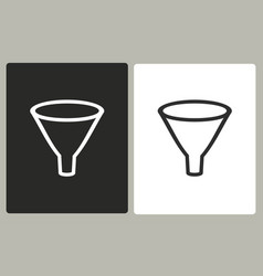 funnel - icon vector image