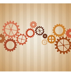 gears concept design vector image