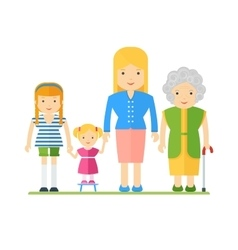 Generations of womens vector