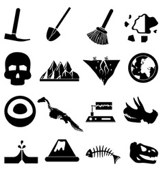 Geology icons set vector image