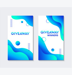 Giveaway templates for social media contest vector
