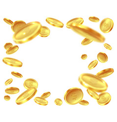 gold coin explosion raining golden coins cash vector image