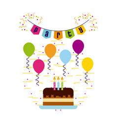 Happy birthday related icons image vector
