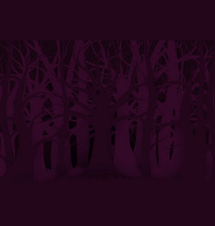 happy halloween forest background and purple dark vector image