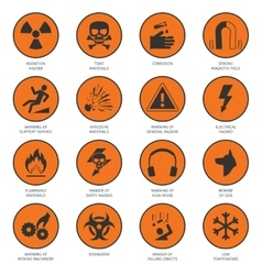 Hazard Icons Black vector image
