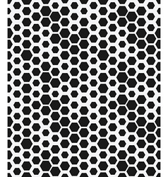 hexagon monochrome seamless geometrical pattern vector image