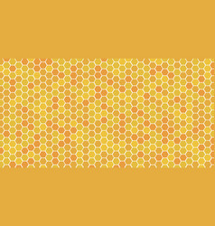 hexagonal honeycomb bee background pattern vector image