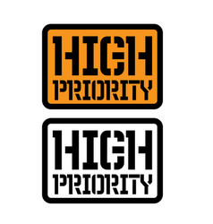 High priority stamp on white vector