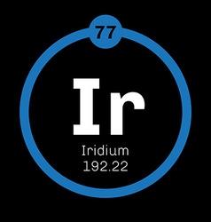 Iridium chemical element vector