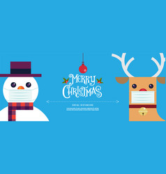 Merry christmas and happy new year new normal vector