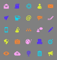 Message and email color icons on gray background vector image
