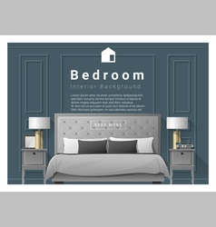 Modern bedroom background Interior design 2 vector