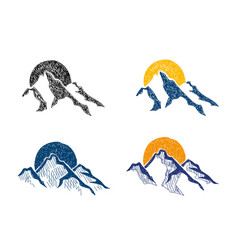 mountains sketches vector image