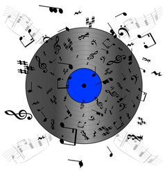 Music record vector image