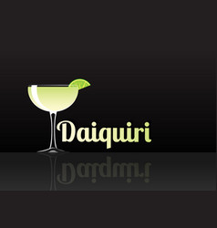 official cocktail icon the unforgettable daiquiri vector image