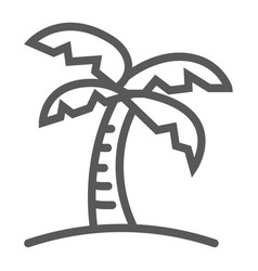 Palm tree line icon travel and tourism vector