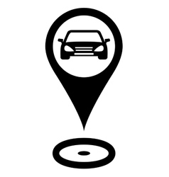 parking sign with car vector image