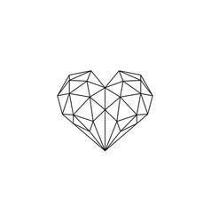 Polygonal heart vector