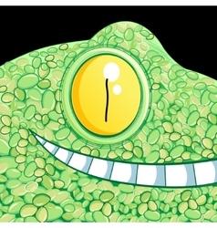 Portrait a crocodile vector