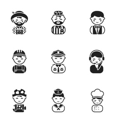 Profession set icons in black style big vector