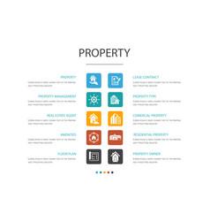 Property infographic 10 option conceptproperty vector
