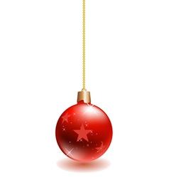 Red christmas ball vector
