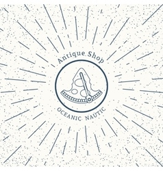 retro nautical logo template vector image