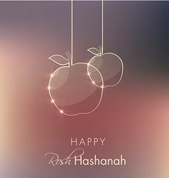 Rosh hashanah holiday greeting vector